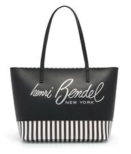 HENRI BENDEL BLack About Town Centennial Striped Tote NWT