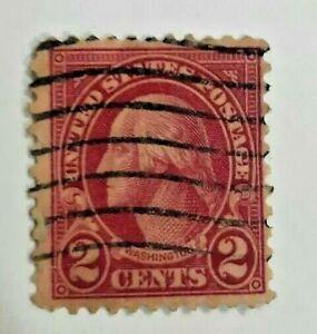 Used 2 Cent US Postage Stamp - George Washington.