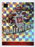 2019 Donruss #DOM-13 ODELL BECKHAM JR Cleveland Browns SP RARE DOMINATORS INSERT