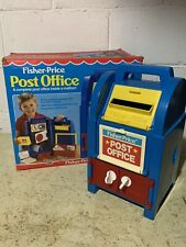 VINTAGE Fisher Price 1989 Post Office Mail Box w/ Accessories And Original Box