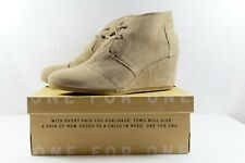 TOMS Desert Wedge Taupe Suede Bootie NEW IN BOX Size 12 NIB