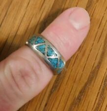 Navajo Band Size 6.5 Vintage Sterling Silver Turquoise