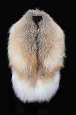 Genuine Real Golden Marble Fox Fur Handmade Stole Boa Shoulder Wrap Shawl