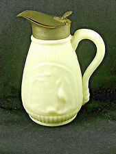 Rare Antique White Opaque / Milk Glass Molasses Jug / Syrup - STORK & SWAN