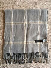 M&S Marks & Spencer -  Grey Check Scarf - Soft Wool Blend
