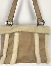 Beige Winter Purse Faux Suede And Faux Wool Fur Purse Tote Bath And Body Works