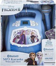 eKids Frozen 2 Bluetooth Portable Mp3 Karaoke Machine Player with Light Show.