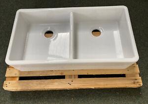 900mm  Huge Double Bowl Belfast Butler Sink - British Made New RRP £691