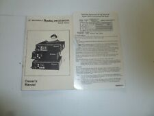 Owners Manual for Motorola M100 and M200 Mobile Radios G233