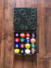 Vintage 16 Balls Billiards/pool Balls In Original Box