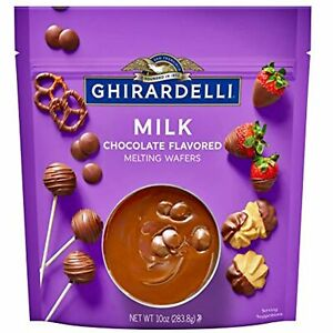 Ghirardelli Melting Chocolate Wafers Milk Chocolates for Candy Dipping and
