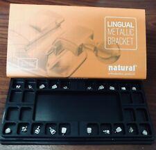NATURAL Bracket LINGUAL Kit 5 x 5 with hooks 3,4,5 Slot 0.018. Ref. 1024-3N