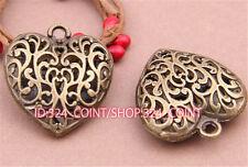 P520 3pcs Antique Bronze heart Pendant Bead Charms Accessories wholesale