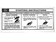 Mustang Starting Instructions Sleeve 1966 - 1973 - Osborn Reproductions