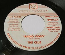 """The CLUE -  Radio Video / Stay The Night With Me 45 Circle Orange 7"""" Power Pop"""