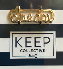 "Keep Collective Large Script ""dream"" Gold Slide Charm"