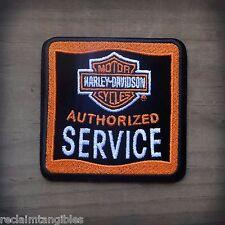 Harley Davidson Authentic Patch - HD Authorized Service - Medium Emblem Badge