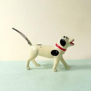 Vintage Lead - SPRING TAILED DOG Very Rare VGC by REKA 1908 - 1932  Britains Era