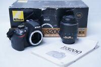 Nikon D D3200 24.2MP Digital SLR Camera w/ 18-55mm 1:3.5-5.6G VR lens - Black