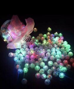 5 Multicoloured RGB Individual LED Lights, Tiny Wireless, Craft, Cake, Wedding