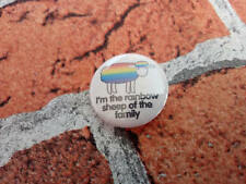 I'm the rainbow sheep of the family pin. 25mm/1 inch badge. Pride LGBTQ badge