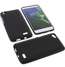 Tasche für Acer Liquid Z6E Handytasche Schutz Hülle TPU Gummi Case Schwarz