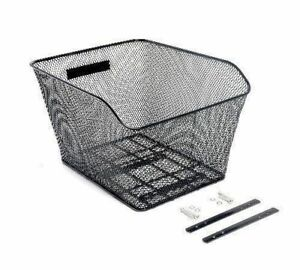 Bike Basket Wire Mesh Bike Rear Basket For Extra Rear Storage Road MTB Hybrid