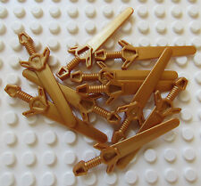 Lego Sword Copper Lot of 10 - Castle Knight Kingdoms - New