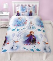 Disney Frozen 2 Element Single Duvet Cover Set Reversible Bedding Kids