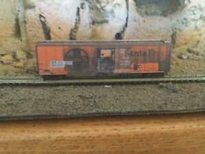 N Scale Micro trains 51' mechanical reefer weathered patched ATSF SANTA FE. NIB