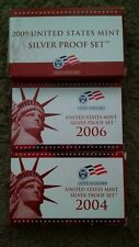2004 2006 2009 Silver U.S. Mint Proof Sets Complete