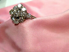 Reinheit VVS Echte Diamanten-Ringe im Cluster-Stil aus Weißgold