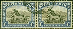 South Africa 1952 1s Blackish Brown & Ultramarine SG120a Fine Used