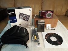 Sony DSC-W370 14.1MP Digital Camera +CD Software +Battery +Re-charger +Case +Car