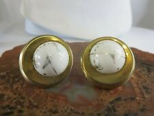 Vintage Anson Mid Century Gold Tone Tropical Palm Tree Mens Cuff Links RP12