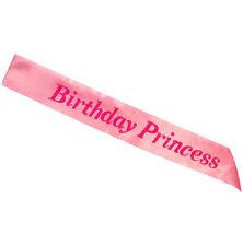 Pink Birthday Princess Sash Girls