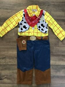 DISNEY WOODY Kids Toy Story Cowboy Boys Fancy Dress Costume AGE 3-4