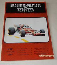 MAQUETTES PLASTIQUE MPM Magazine N°22 1972 MORANE 225 FERRARI 312 B AER Macchi