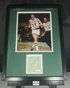 John Havlicek Signed Auto Autographed 12x16 Framed Photo & Cut JSA COA Celtics