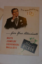 VINTAGE 1948 HICKOK JEWELRY STORE SIGN! ORIGINAL MAILER W/LETTER & MORE! UNUSED!
