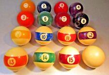 "Belgian Aramith Continentals Version 3 2 1/4"" PREMIER Pool Balls, Complete Set"