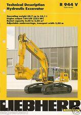 Equipment Brochure - Liebherr - R944V - Hydraulic Excavator - 1999 (EB936)