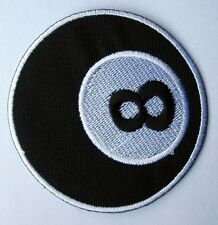 8 EIGHT BALL BILLIARDS POOL LOGO Embroidered Iron on Patch Free Shipping