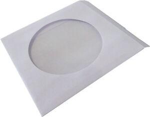 100 Stück CD DVD Blu-Ray Papierhüllen Schutz-Hüllen Papiertüten mit Sichtfenster