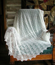 Baby Lace Edge Shawl Knitting Pattern in 2ply 955