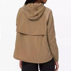 NEW wTag-LULULEMON Tan Seek Vistas 1/2 Zip Jacket M/L