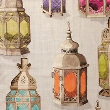 MANUEL CANOVAS Essaouira Lanterns multi orange printed linen new
