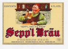 Sepp'l Brau Beer Label
