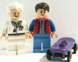 Lego Marty McFly Minifigure Figure & Doc Brown  From Back To The Future 21103