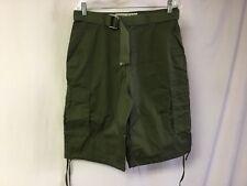 Men's Oakwood Mountain Long Cargo Shorts w/ Belt Size 34 Green #503R
